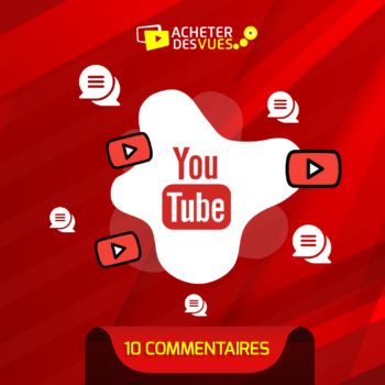 Acheter 10 commentaires YouTube
