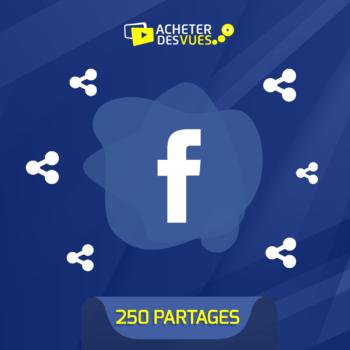 Acheter 250 partages Facebook