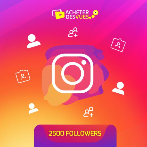 Acheter 2500 Followers Instagram