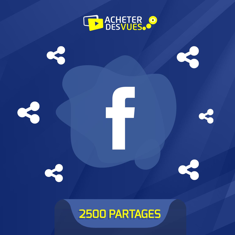 Acheter 2500 partages Facebook