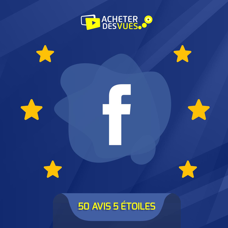 Acheter 50 recommandations Facebook