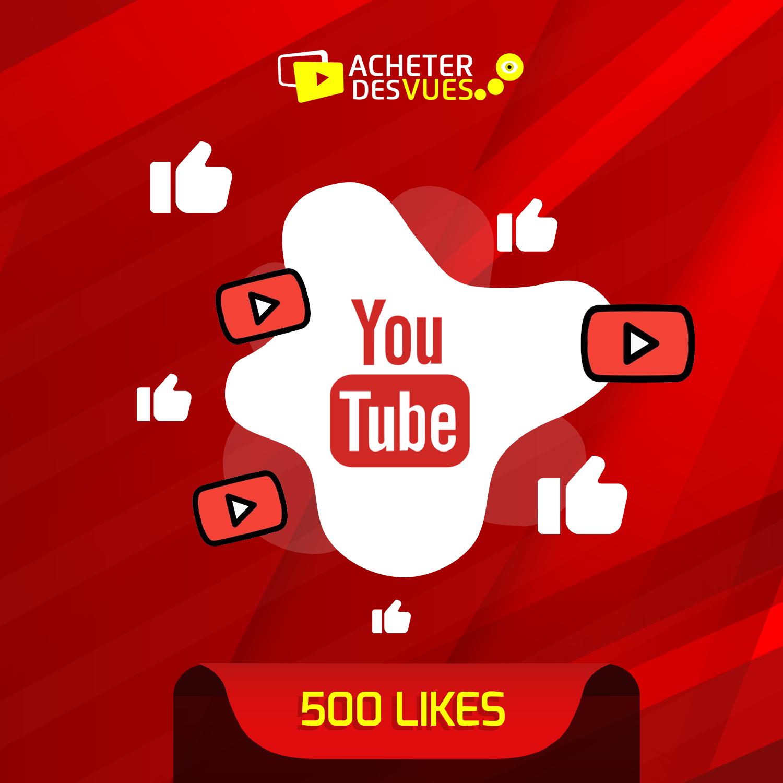 Acheter 500 Likes YouTube
