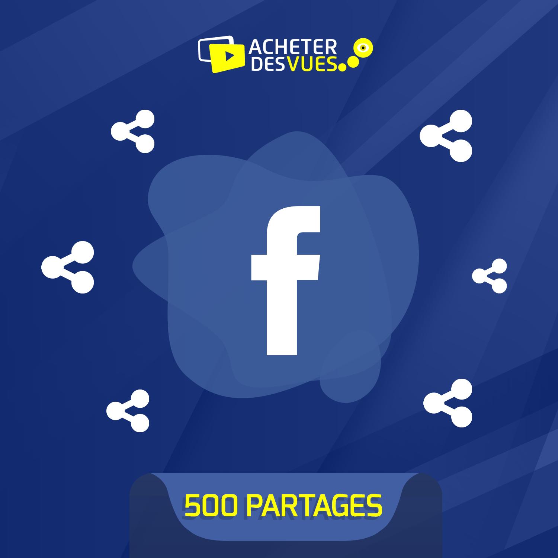 Acheter 500 partages Facebook