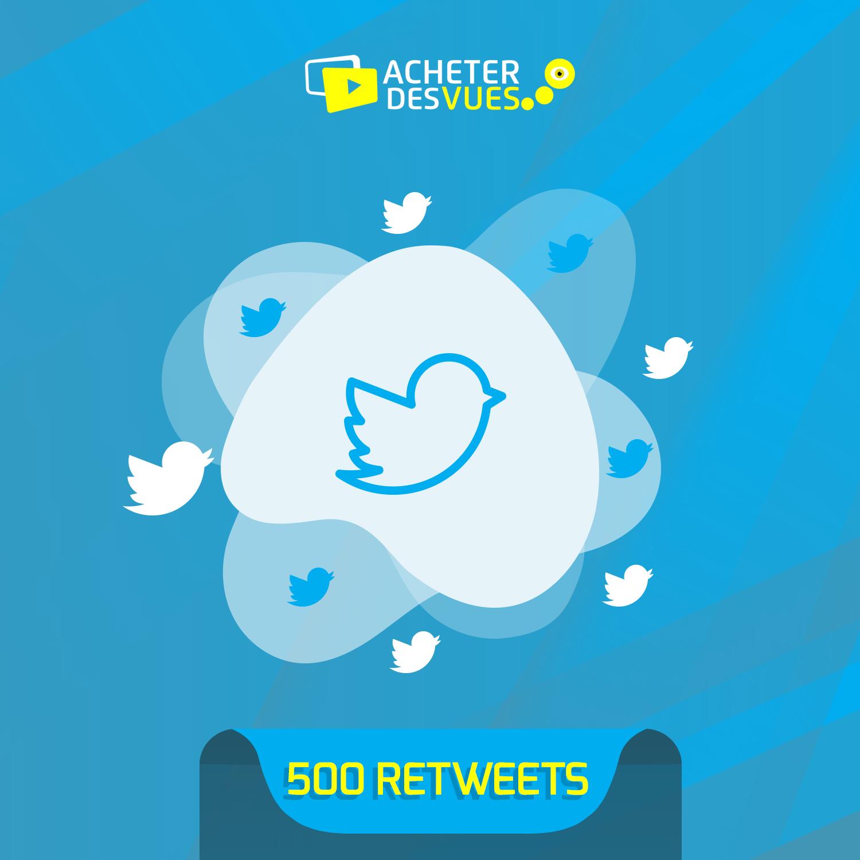 Acheter 500 retweets Twitter