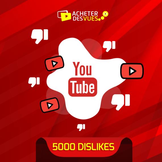 Acheter 5000 Dislikes YouTube