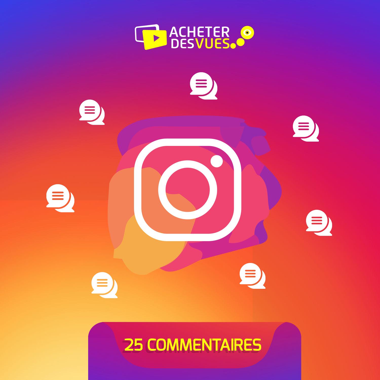 Acheter 25 commentaires Instagram