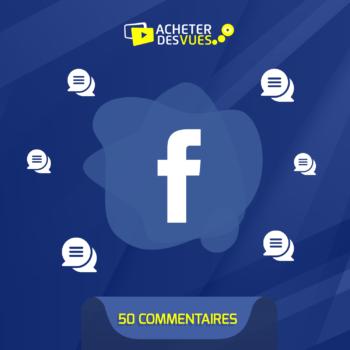 Acheter 50 commentaires Faceboook