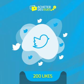 Acheter 200 Likes Twitter