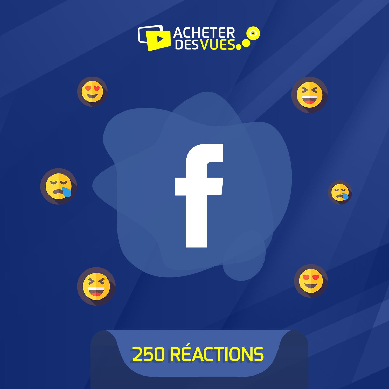 Acheter 250 réactions Facebook