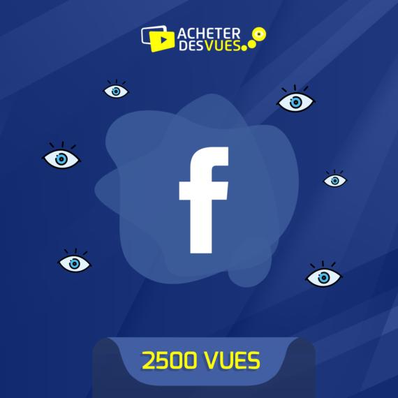 Acheter 2500 vues Facebook