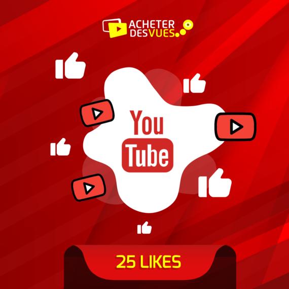 Acheter 25 Likes YouTube