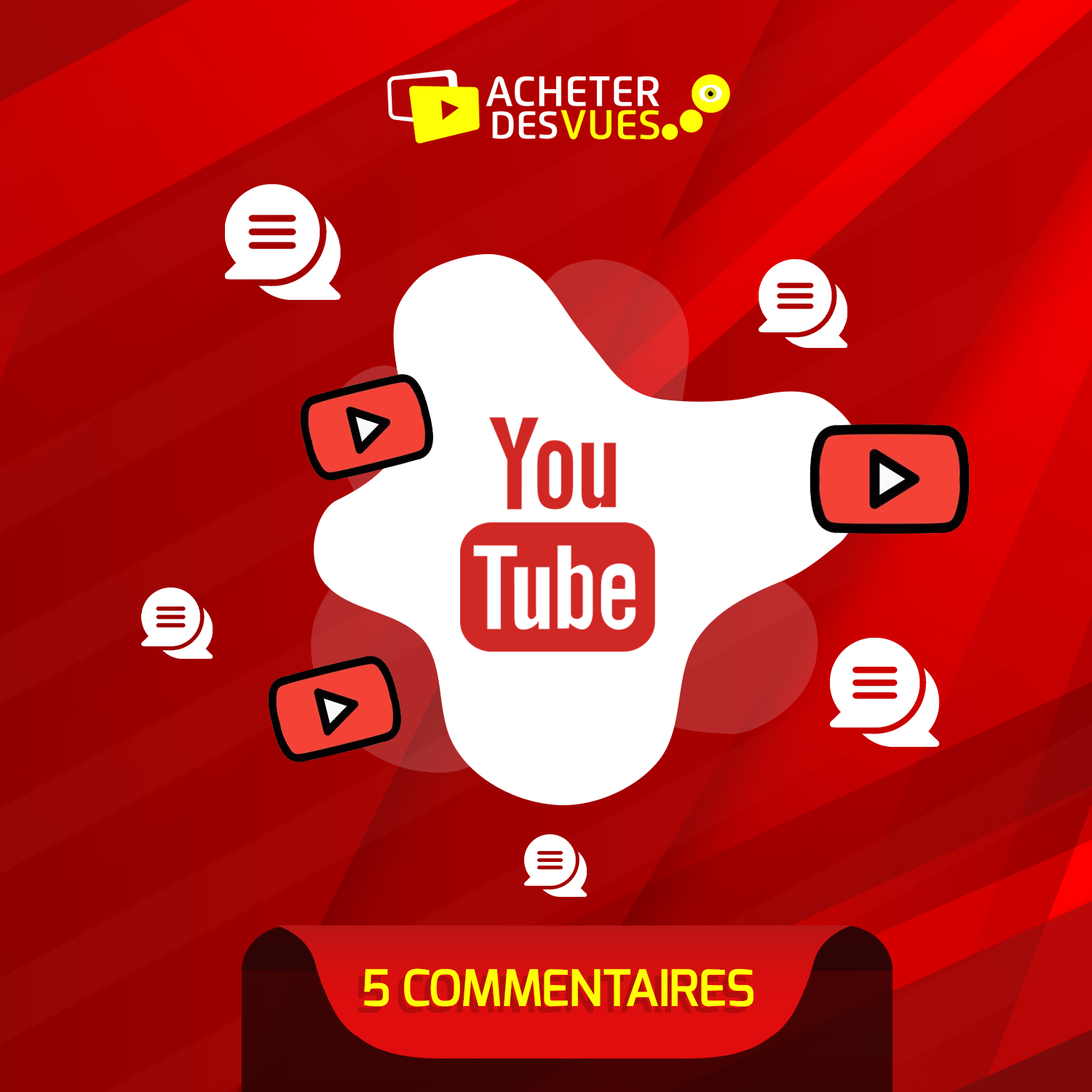 Acheter 5 commentaires YouTube