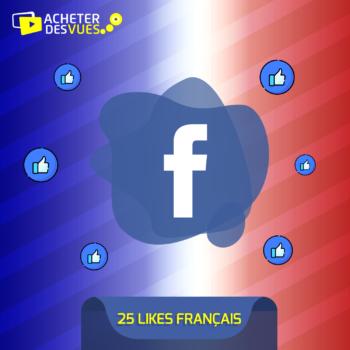 Acheter 25 Likes Facebook français