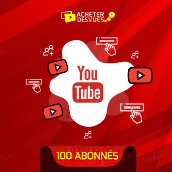 Acheter 100 abonnés YouTube