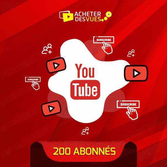 Acheter 200 abonnés YouTube