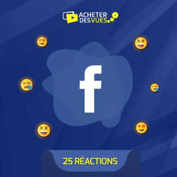 Acheter 25 réactions Facebook