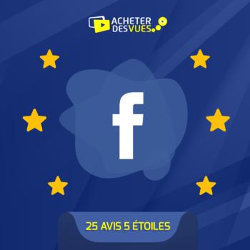 Acheter 25 recommandations Facebook
