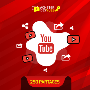 Acheter 250 partages YouTube