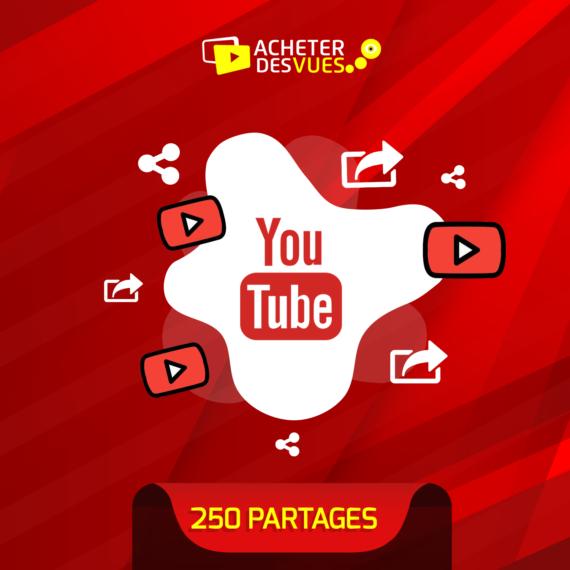 Acheter 250 partages YouTube