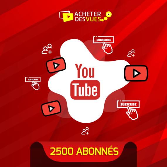 Acheter 2500 abonnés YouTube