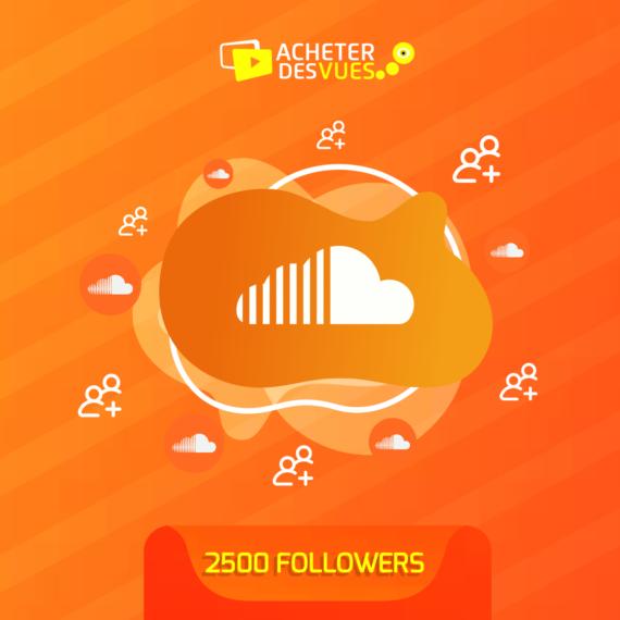 Acheter 2500 Followers SoundCloud