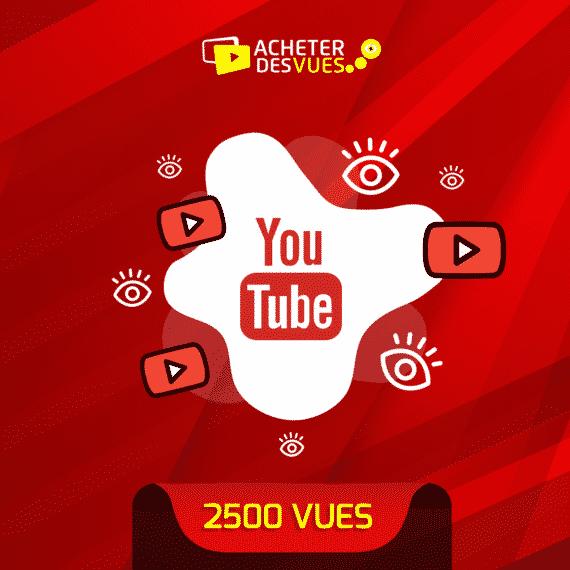 acheter 2500 vues YouTube