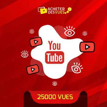 acheter 25000 vues YouTube