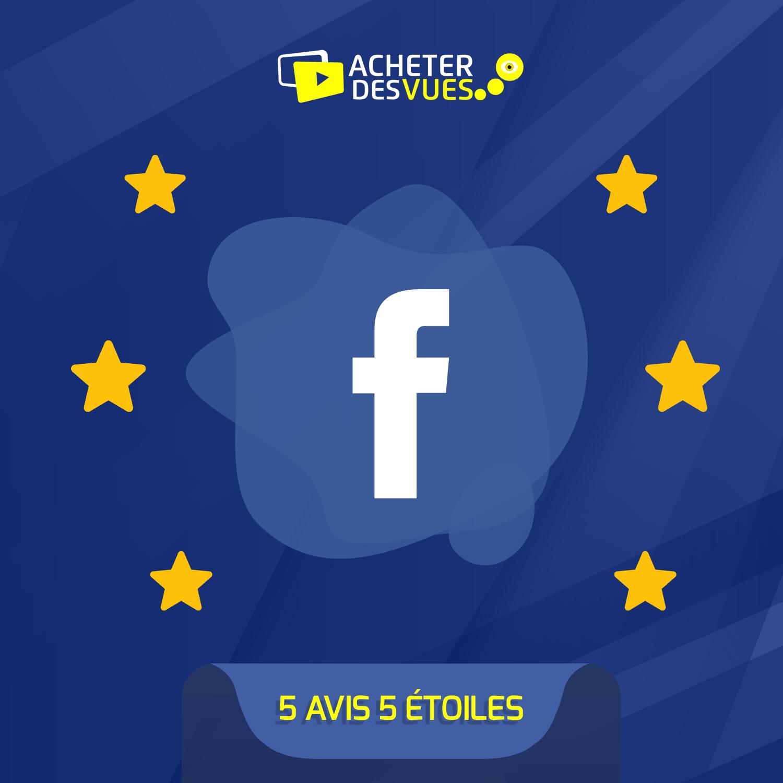 Acheter 5 recommandations Facebook