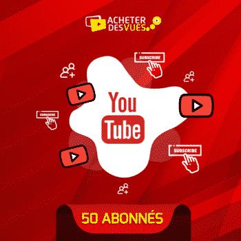 Acheter 50 abonnés YouTube