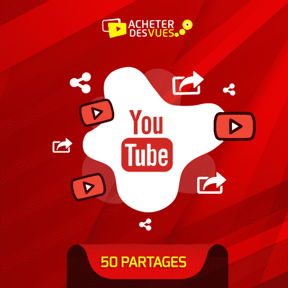 Acheter 50 partages YouTube